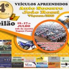 4° LEILÃO DO AUTO SOCORRO JOÃO ROSSI SERÁ EM JULHO