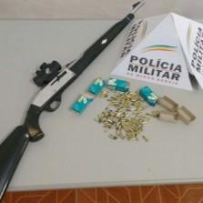 Polícia militar apreende armas e munições em São Miguel do Anta