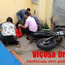 Motoqueiro sofre acidente na Gomes Barbosa.