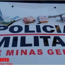 PM recupera motocicleta e apreende arma e dinheiro após roubo em Coimbra