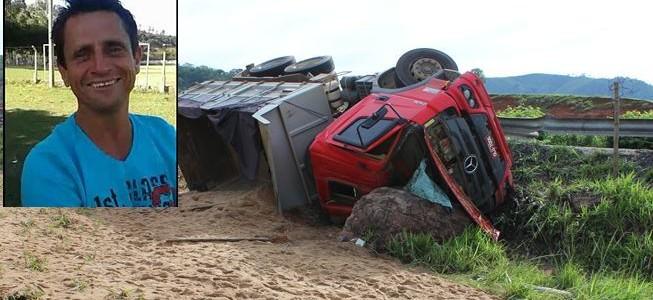 Caminhoneiro morre em acidente na Serra de São Geraldo
