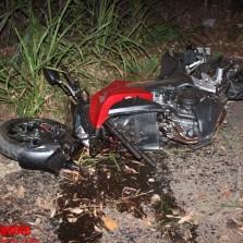 Motoqueiro sofre acidente próximo do Tiro de Guerra