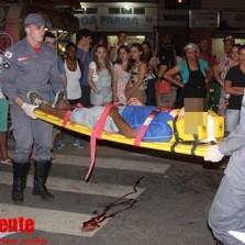 Homem é atropelado na avenida Santa Rita.