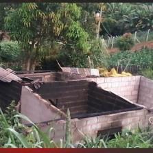 incêndio criminoso destrói casa no Buiéié