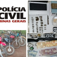 Polícia civil de Ervália realiza operações e apreende drogas e armas
