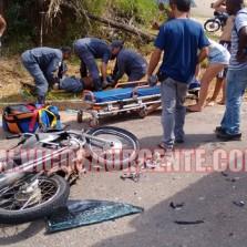 Motoqueiro sofre acidente na Marechal Castelo Branco