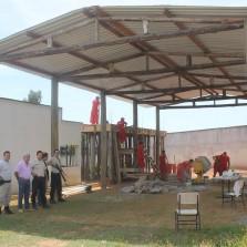 Detentos agilizam construção da fábrica de pré-moldados