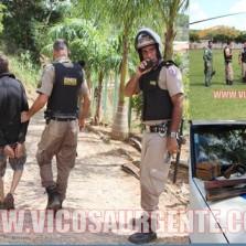 Polícia prende suspeitos de roubo no Córrego dos Barros.