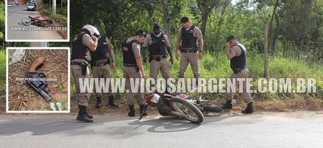 PM troca tiros com bandidos e recupera motocicletas roubadas