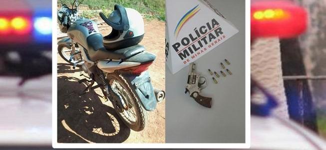 Coimbra: PM recupera motocicleta roubada e apreende arma de fogo