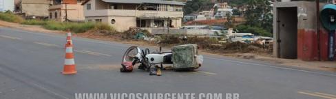 Colisão no bairro Silvestre deixa motoqueiro ferido