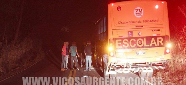 Bandidos assaltam ônibus escolar na rodovia Viçosa/Porto Firme