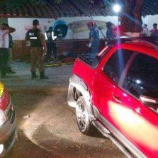Motorista atropela e mata quatro pessoas no bar em Rodeiro