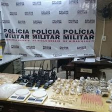 Polícia Militar de Ubá realiza grande apreensão de drogas