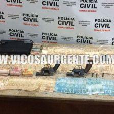 Exclusivo: Polícia civil prende suspeitos de roubar casa lotérica no centro, dinheiro e armas foram apreendidos.