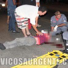 Homen é atropelado em Teixeiras