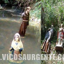 Desvendado o mistério do santos nas águas em Porto Firme