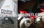 Violeira: Suspeito é preso pela PM com arma e motocicleta roubada