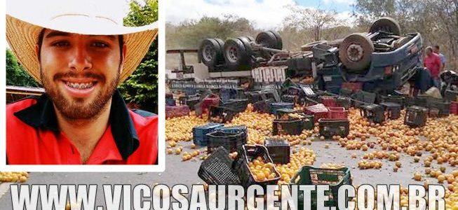 jovem de Araponga morre em acidente no Norte de Minas