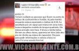 Jovem assaltada em Viçosa, usa redes sociais para alertar outras pessoas