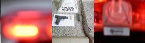 PM apreende arma durante ocorrência de Maria da Penha