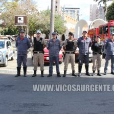 Policiais e bombeiros militares fazem homenagem para ao Cabo Marcos