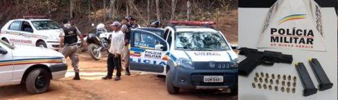 PM apreende arma de uso restrito na zona rural de São Miguel do Anta