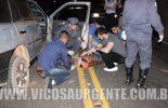 Colisão na rodovia Viçosa/Porto Firme deixa motorista ferido