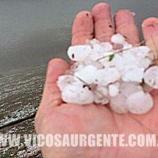 Chuva de granizo assusta moradores de Porto Firme