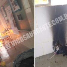 Fogo em escola deixa alunos feridos