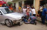 Acidente na rua Cajuri deixa motoqueiro ferido