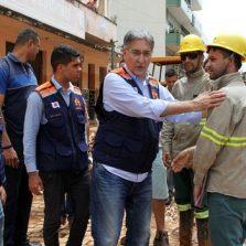 Governador visita Rio Casca, cidade atingida pelas chuvas em Minas Gerais