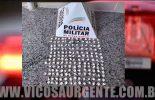 Jovem é preso por tráfico de drogas no Sagrada Família