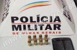 PM aborda veículo suspeito e encontra munições de calibre restrito