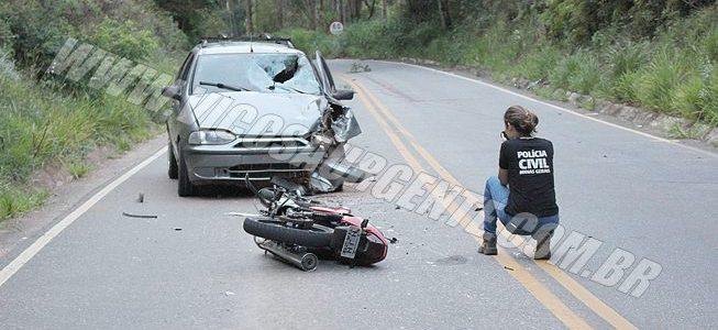 Jovem fica gravemente ferido em acidente na rodovia Viçosa/Porto Firme