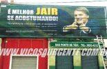 Justiça ordena retirada de outdoor de Jair Bolsonaro em Viçosa