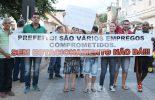 COMERCIANTES E MORADORES DA RUA DOS PASSOS FAZEM PROTESTO PELA VOLTA DE ESTACIONAMENTOS