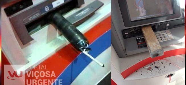 Ladrões tentam explodir caixa eletrônico em São Geraldo
