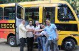 Ônibus escolar doado pelo Estado será usado no transporte de alunos da Zona Rural