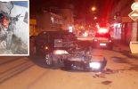 Jovem abandona moto após acidente