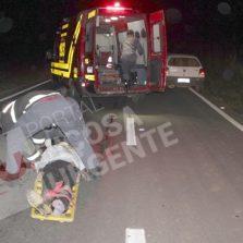 Na madrugada: Motoqueiro fica gravemente ferido em acidente o trevo da Reciclagem