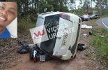 Jovem morre em acidente na rodovia Viçosa/Porto Firme