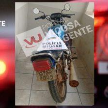 PM de Guaraciaba recupera motocicleta roubada