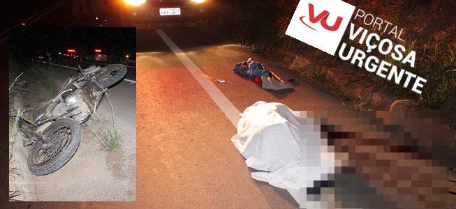 Idoso morre atropelado na Br120 em Teixeiras