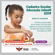Cadastro para vagas em creches e pré-escolas começa em novembro
