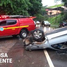 Motorista fica ferido em acidente no Silvestre