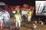 Acidente: Caminhoneiro fica preso nas ferragens em Ponte Nova