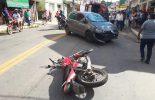 Colisão na Gomes Barbosa deixa motoqueiro ferido