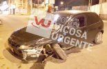 Condutora com sintomas de embriaguez sofre acidente na rua dos Passos