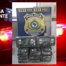 PRF apreende 11 Kg de cocaína que abasteceria Ubá e região